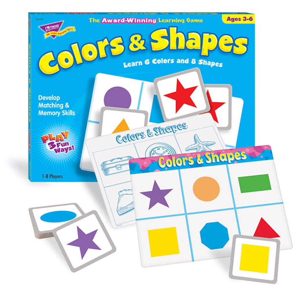 Colors and Shapes Match Me Math Game - EducationalLearningGames.com