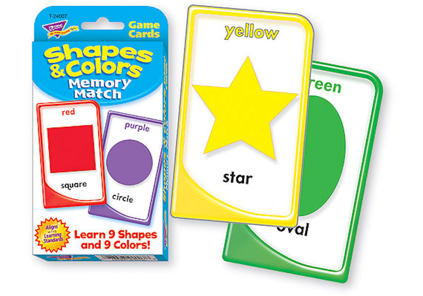 Colors and Shapes Memory Match Flash Cards - EducationalLearningGames.com