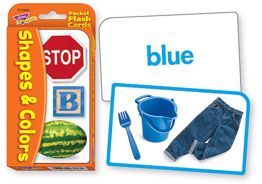 Colors and Shapes Pocket Flash Cards - EducationalLearningGames.com