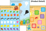 Colors and Shapes Wipe-off Workbook for Kids - EducationalLearningGames.com