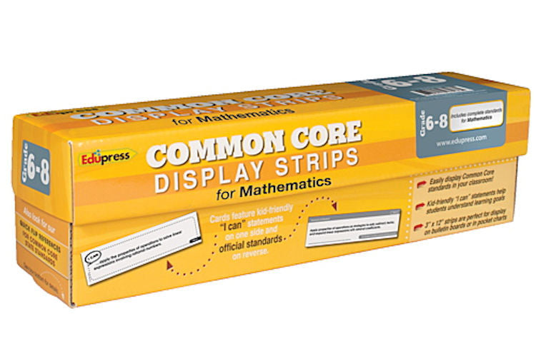 Common Core Display Strips, Math, Grades 6 - 8 EducationalLearningGames.com
