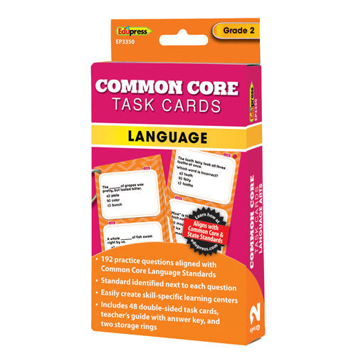 Common Core Language Task Cards, Grade 2