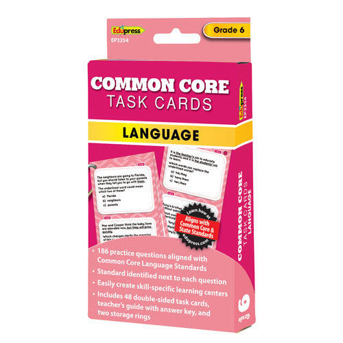 Common Core Language Task Cards, Grade 6