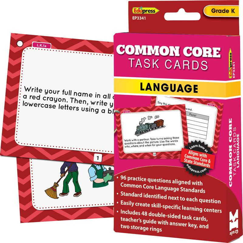 Common Core Language Task Cards, Kindergarten