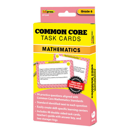 Common Core Mathematic Task Cards, Grade 6