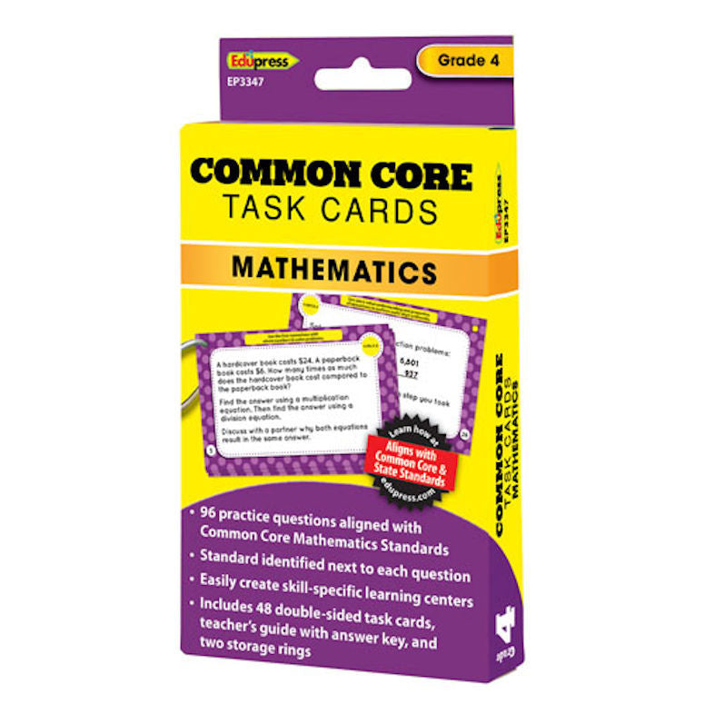 Common Core Mathematics Task Cards, Grades 4 - EducationalLearningGames.com