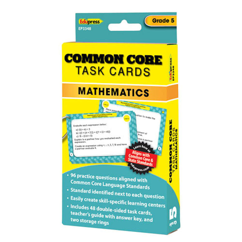 Common Core Mathematics Task Cards, Grades 5 - EducationalLearningGames.com
