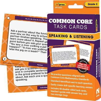 Common Core Speaking and Listening Task Cards, Grade 2