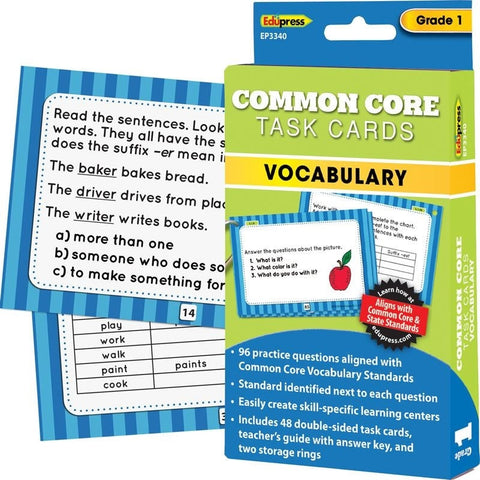 Common Core Vocabulary Task Cards, Grade 1