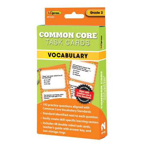Common Core Vocabulary Task Cards, Grade 2