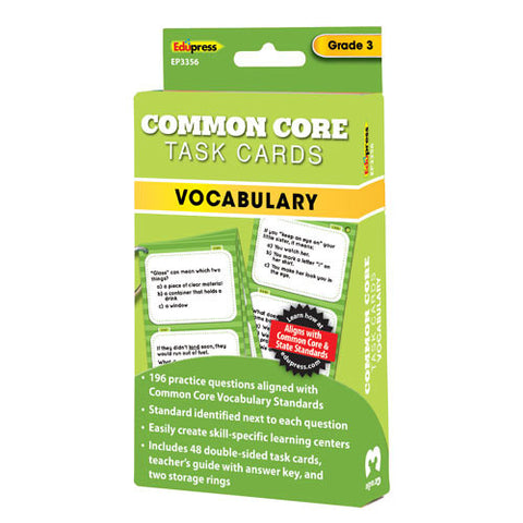 Common Core Vocabulary Task Cards, Grade 3 EducationalLearningGames.com