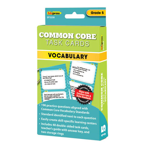 Common Core Vocabulary Task Cards, Grade 5