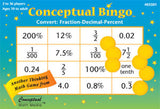 Conceptual Bingo Convert Fractions Decimals Percents Game - EducationalLearningGames.com