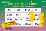 Conceptual Bingo Money Dollar and Cents Game - EducationalLearningGames.com