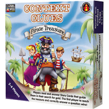 Context Clues Pirate Treasure Game, Blue Level - EducationalLearningGames.com