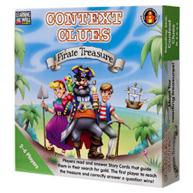 Context Clues Pirate Treasure Game, Green Level  - EducationalLearningGames.com