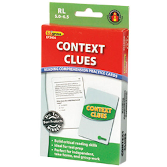 Context Clues Reading Comprehension Practice Cards, Green Level