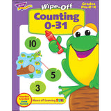 Counting 0 - 31 Wipe-off Workbook for Kids - EducationalLearningGames.com