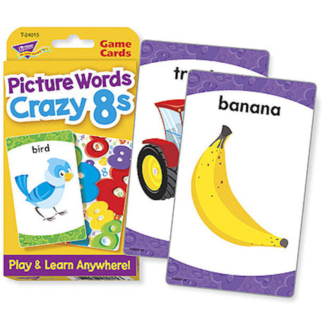Crazy Eights Challenge Flash Cards - EducationalLearningGames.com