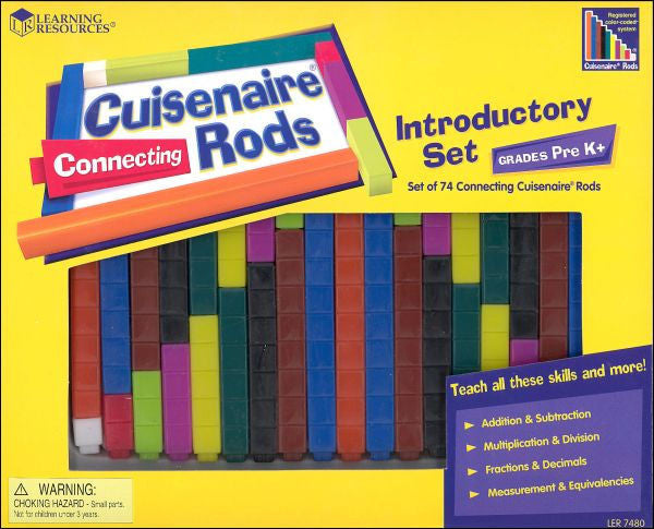 Cuisenaire Rods Introductory Set Connecting Plastic Rods - EducationalLearningGames.com