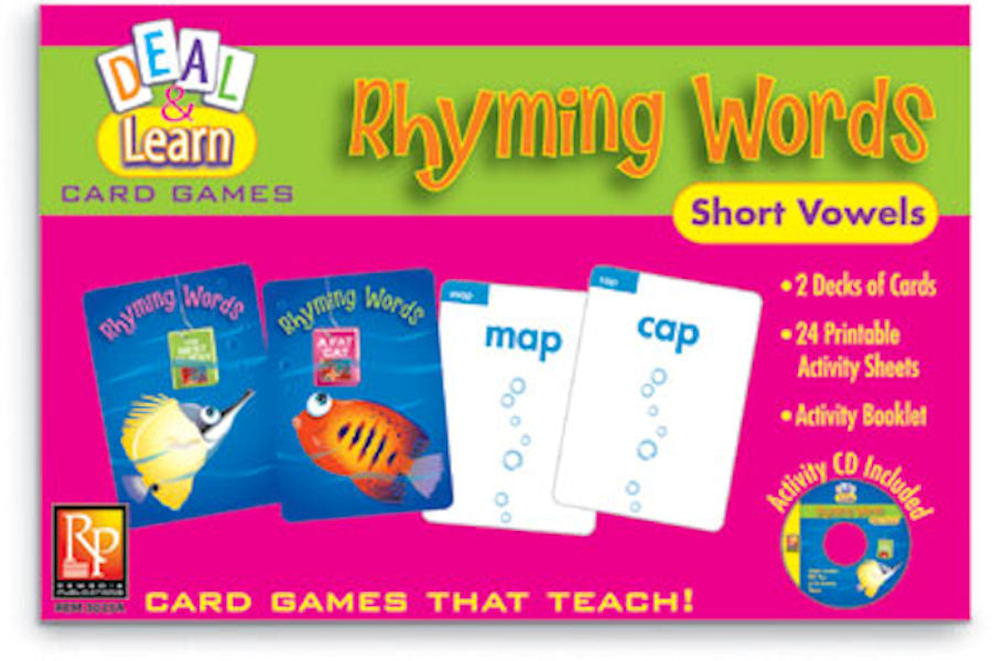 Deal & Learn Card Games Rhyming Words Short Vowels