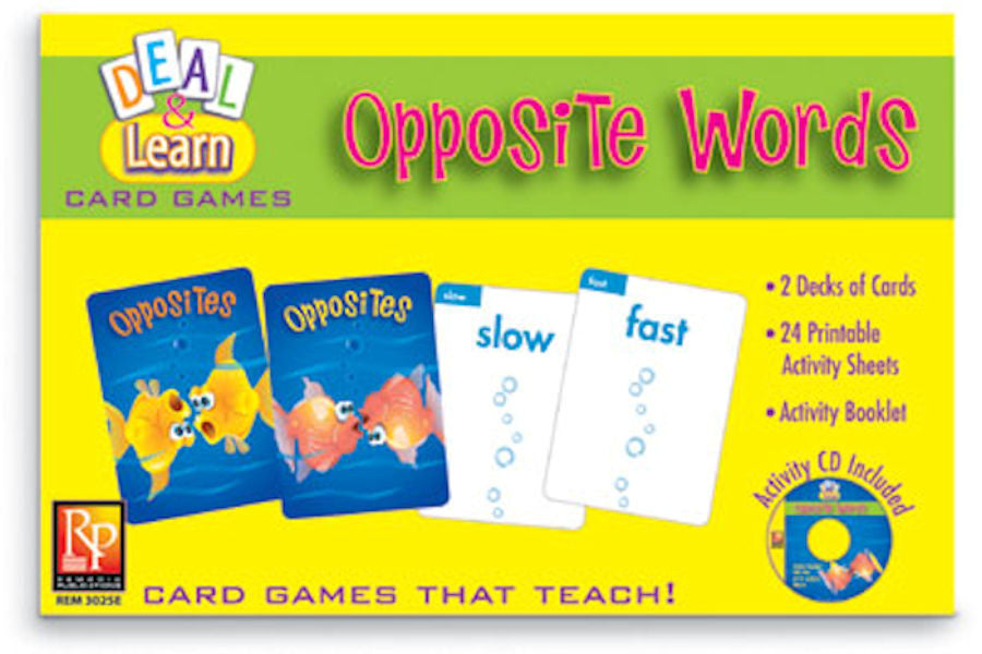 Deal & Learn Opposite Words Card Games
