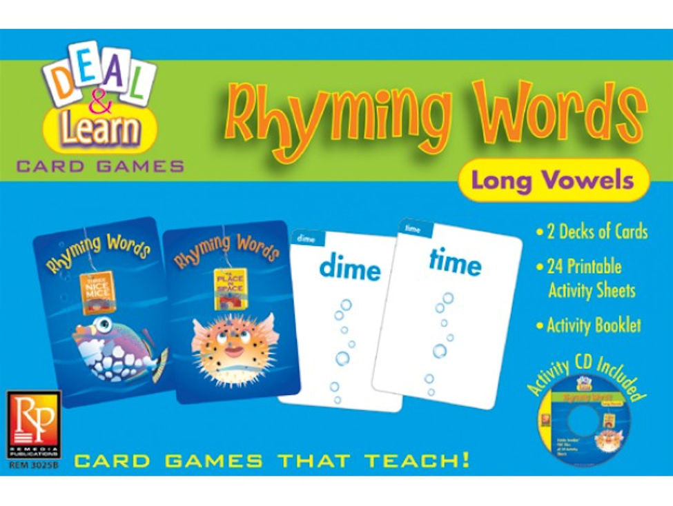 Deal & Learn Rhyming Words Long Vowels Card Game