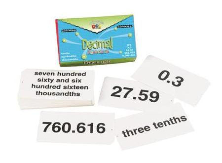 Decimal Flash Cards - EducationalLearningGames.com