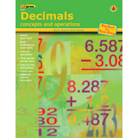 Decimals Concepts and Operations Drill Books - EducationalLearningGames.com