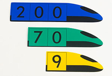 Demonstration Place Value Trains, Hundreds - EducationalLearningGames.com