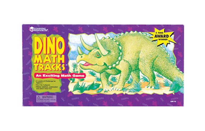 Dino Math Tracks Place Value Game - EducationalLearningGames.com