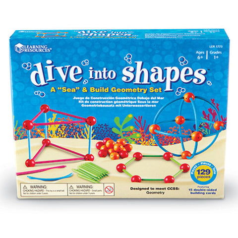 Dive into Shapes A Sea and Build Geometry Set - EducationalLearningGames.com
