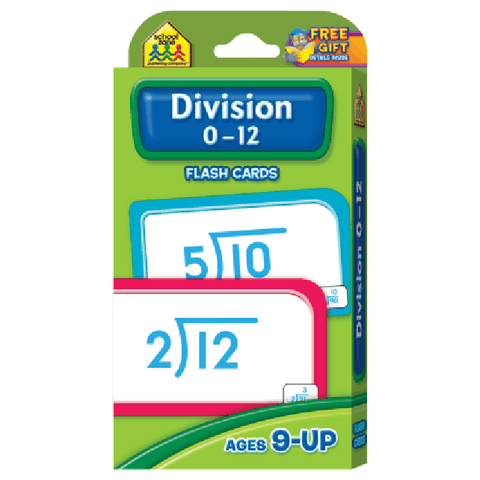 Division 0-12 Flash Cards - EducationalLearningGames.com
