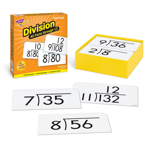 Division 0-12 All Facts Skill Drill Flash Cards - EducationalLearningGames.com