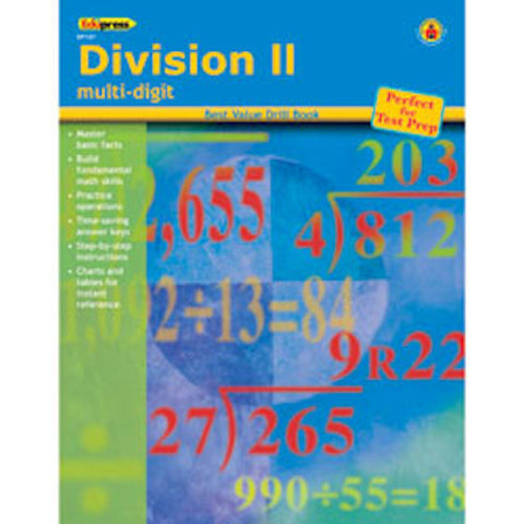 Division II Drill Multi-Digit Books - EducationalLearningGames.com