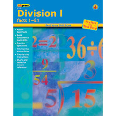 Division I Drill Facts 1 - 81 Book - EducationalLearningGames.com