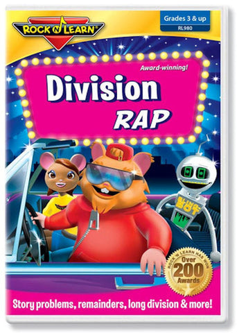 Division Rap DVD EducationalLearningGames.com