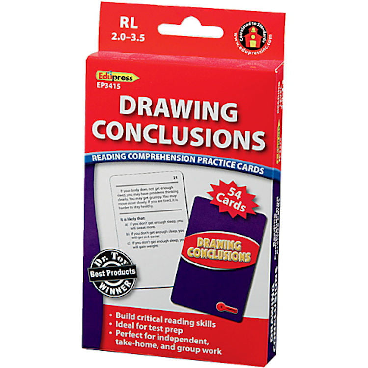 Drawing Conclusions Reading Comprehension Cards, Red Level