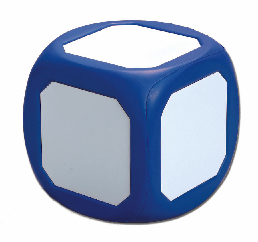Dry Erase Die, Large Blue, Write-On & Wipe-Off Die EducationalLearningGames.com