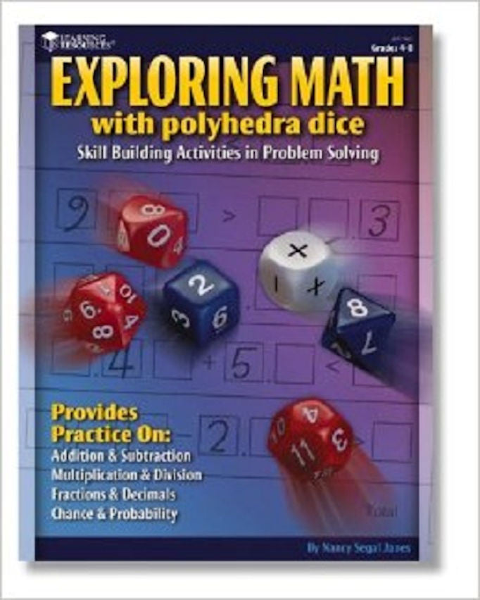 Exploring Math with Polyhedral Dice Game and Book - EducationalLearningGames.com