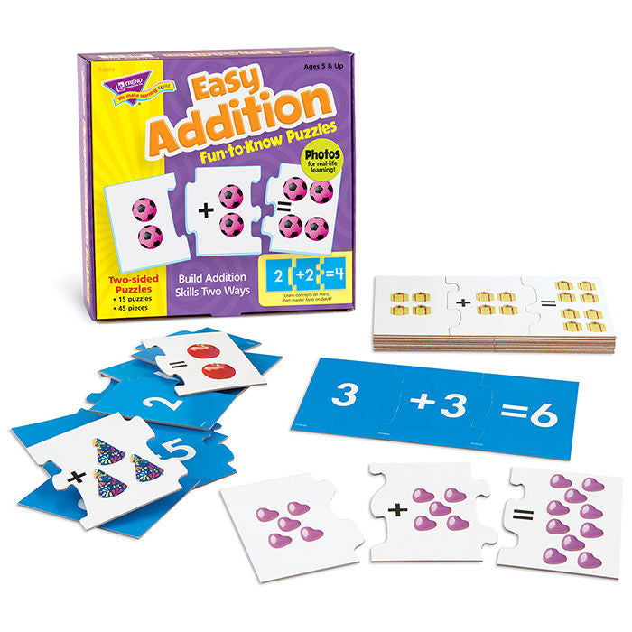 Easy Addition Fun to Know Math Puzzles