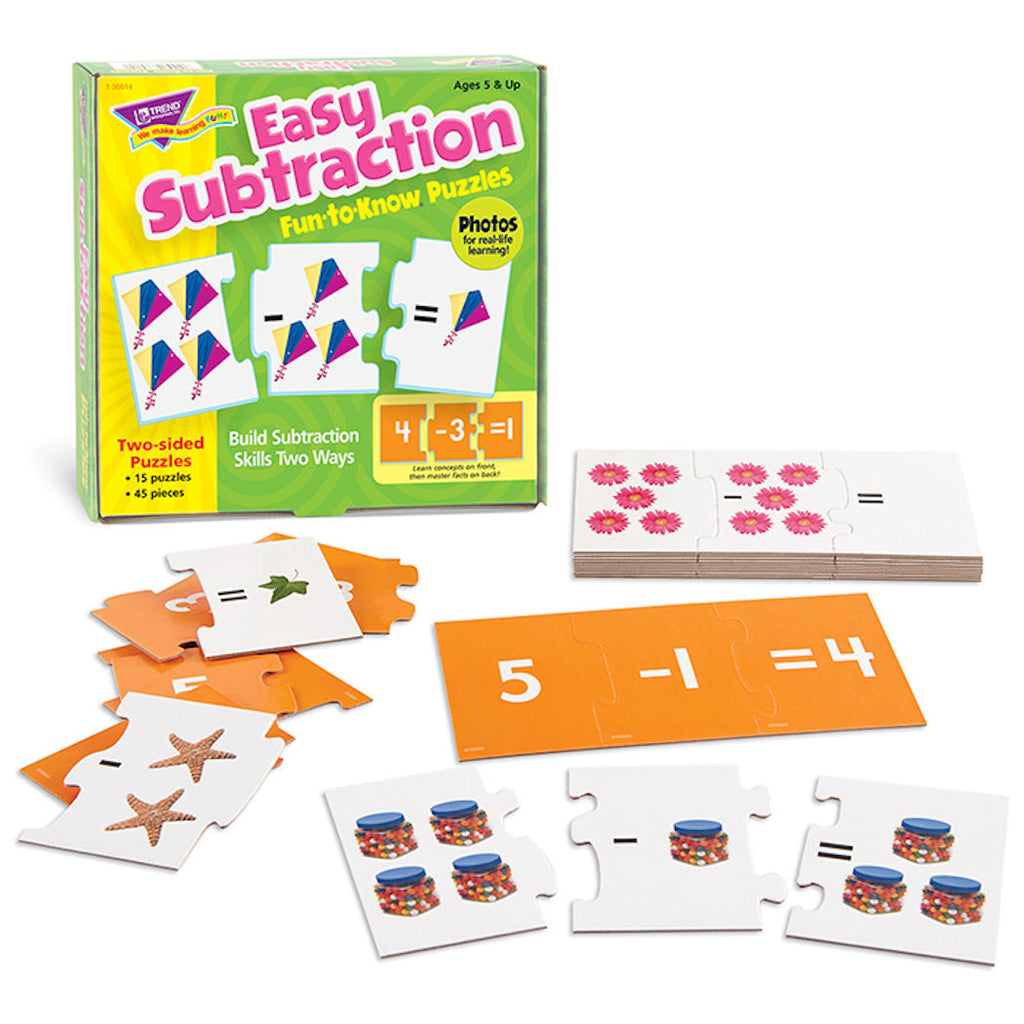 Easy Subtraction Fun-to-Know Math Puzzles