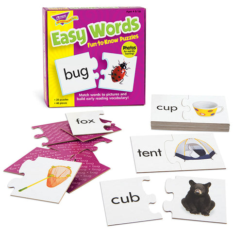 Easy Words Fun-to-Know Puzzles - EducationalLearningGames.com