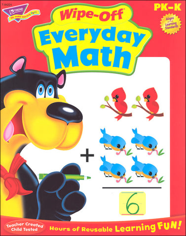 Everyday Math Wipe-off Workbook for Kids - EducationalLearningGames.com