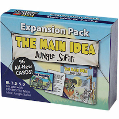 Expansion Pack The main Idea Jungle Safari, Blue Level - EducationalLearningGames.com