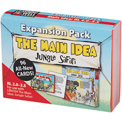 Expansion Pack The main Idea Jungle Safari, Red Level - EducationalLearningGames.com