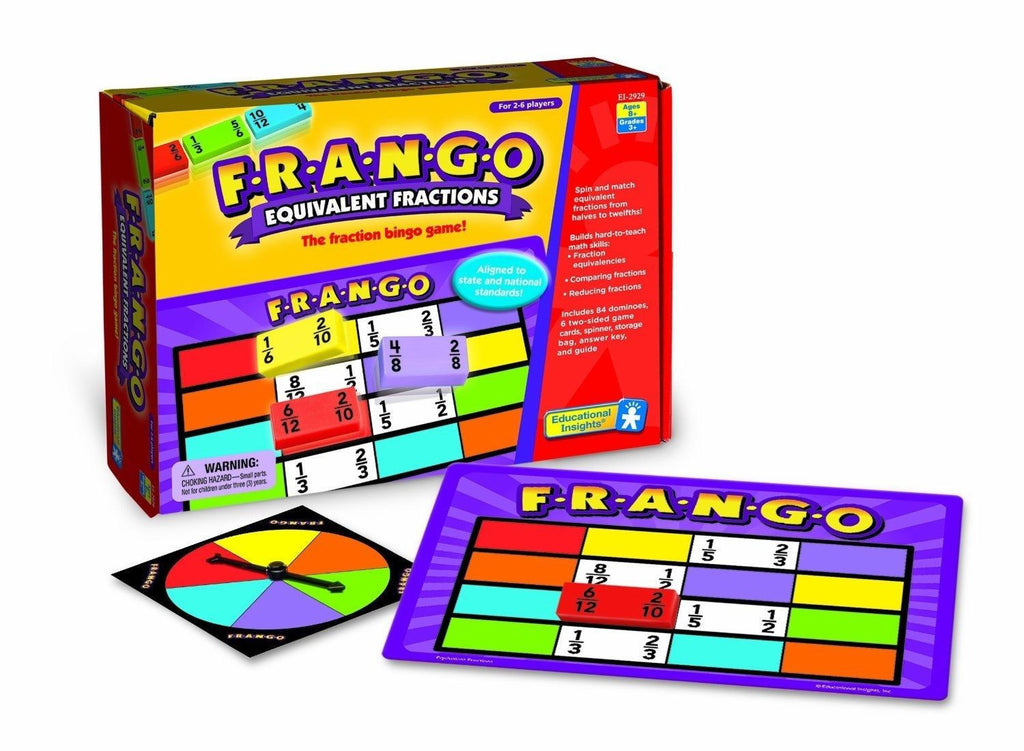 F-R-A-N-G-O Equivalent Fractions Game