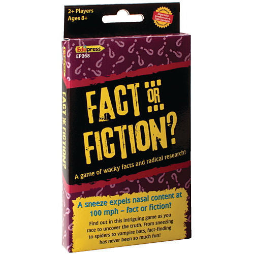 Fact or Fiction? Card Game, Grades 3+
