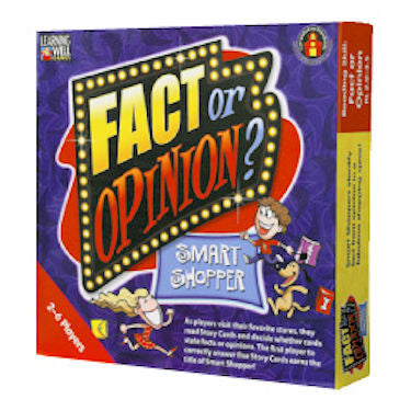 Fact or Opinion Smart Shopper Game, Red Level - EducationalLearningGames.com