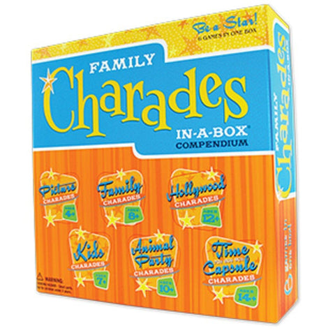 Family Charades IN-A-BOX Compendium Game - EducationalLearningGames.com